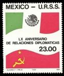 Stamps America - Mexico -  60 Aniversario de Relaciones Diplomáticas México-U.R.S.S.