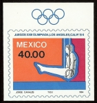 Stamps Mexico -  Juegos Olímpicos XXIII, Verano, Los Ángeles 1984 -- Aros