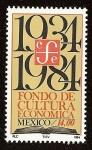 Stamps : America : Mexico :  50 Aniversario del Fondo de Cultura Económica