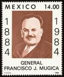 Stamps America - Mexico -  Centenario del natalicio del General Francisco J. Mugica