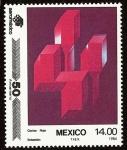 Stamps : America : Mexico :  50 Aniversario de Aeroméxico - Cactus Rojo, por Sebastián