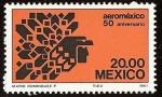 Stamps America - Mexico -  50 Aniversario de Aeroméxico -- Logotipo de la Aerolínea