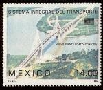 Stamps : America : Mexico :  Inauguración del Nuevo Puente sobre el Río Coatzacoalcos