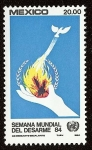 Stamps : America : Mexico :  Semana Mundial del Desarme, ONU
