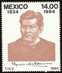 Stamps of the world : Mexico :  150 Aniversario del natalicio de Ignacio Manuel Altamirano