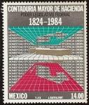 Stamps : America : Mexico :  160 Aniversario de la Contaduría Mayor de Hacienda