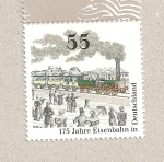 Stamps Germany -  175 Aniv. del ferrocarril en Alemania