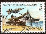 Stamps Europe - Spain -  Día de las Fuerzas Armadas - Composición alegórica de las Fuerzas Armadas