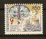 Stamps Czechoslovakia -  Congreso del Consejo Musical Internacional de la UNESCO.