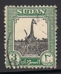 Sellos de Africa - Sudán -  Jirafa.