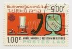 Stamps Laos -  Año internacional de las telecomunicaciones