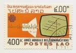Sellos de Asia - Laos -  Año internacional de las telecomunicaciones