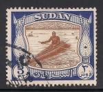 Sellos del Mundo : Africa : Sudán : Ambatch canoe.