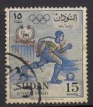 Sellos del Mundo : Africa : Sudán : Juegos Olimpicos 1960.