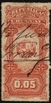 Stamps Uruguay -  Escudo Nacional. Timbre impuesto de