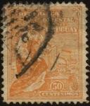 Sellos de America - Uruguay -  Símbolo del progreso comercial e industrial en Uruguay.