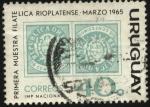 Sellos de America - Uruguay -  Primera muestra filatélica Rioplatense. Marzo 1965.