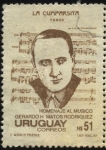 Stamps of the world : Uruguay :  Autor uruguayo  del tango