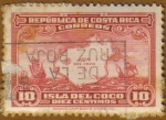 Stamps America - Costa Rica -  Isla y barcos DEL COCO