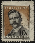 Stamps of the world : Uruguay :  Dr. Carlos Vaz Ferreira. Destacado filósofo uruguayo. 1872-1958