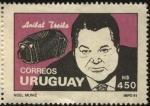 Sellos del Mundo : America : Uruguay : Anibal Troilo alias Pichuco. 1914 - 1975. Bandoneonista, compositor, director de orquesta de tango.