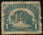 Sellos de America - Uruguay -  Impuesto a la encomienda. Edificio del Banco Rep�blica en la Ciudad Vieja.