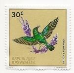 Stamps Rwanda -  Pájaros