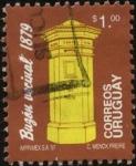 Stamps Uruguay -  Correos, buzón vecinal del año 1879.