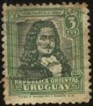 Stamps America - Uruguay -  Bruno Mauricio de Zabala. 1682 - 1736, militar y administrador colonial español fundador de Montevid