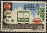 Sellos de America - Uruguay -  Campaña de seguridad en el tránsito. Pare con luz roja.