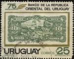 Stamps Uruguay -  75 años del Banco de la República Oriental del Uruguay.