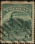 Stamps America - Uruguay -  La primer Locomotora de Uruguay del año 1861.