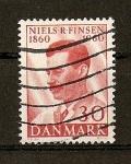 Sellos de Europa - Dinamarca -  Centenario del nacimiento de Niels R. Finsen. (medico)