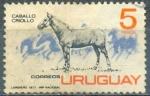 Stamps of the world : Uruguay :  Caballo criollo