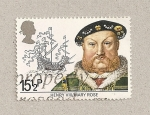 Stamps United Kingdom -  Enriue VIII