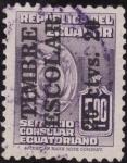 Stamps Ecuador -  SOBRECARGO POSTAL