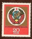 Stamps : Europe : Germany :  50 Años de la URSS 1922-1972