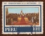 Stamps : America : Peru :  1821 - Sesquicentenario de la Independencia - 1971