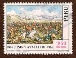 Stamps : America : Peru :  1824 - Junin y Ayacucho - 1974