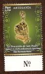 Stamps : America : Peru :  Artesanía Peruana - Tallado en Piedra Policromada-Apurímac. La Procesión de San Pedro (Autor: Fidel