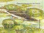 Stamps : America : Brazil :  Serie Pantanal - Pseudoplatystoma fasciatum