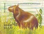 Stamps : America : Brazil :  Serie Pantanal - Hydrochoerus hydrochoeris