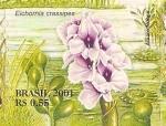 Stamps : America : Brazil :  Serie Pantanal - Eichornia crassipes