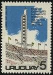 Sellos de America - Uruguay -  Torre de los homenajes de la tribuna Ol�mpica del Estadio Centenario monumento hist�rico del futbol