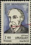 Stamps Uruguay -  Doctor don Ildefonso  García Lagos, Ministro Secretario del Estado en el Departamento de Relaciones