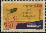 Sellos de America - Uruguay -  La conquista del espacio y diagramas de flujo. Educación.