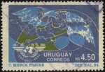 Sellos de America - Uruguay -  40 años de la Organización Internacional de la Aeronáutica Civil. Agencia creada por la ONU en el añ