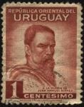 Stamps of the world : Uruguay :  A la gloria de Juan Manuel Blanes 1830 — 1901 Pintor uruguayo que con su arte dejó la herencia pictó