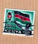 Stamps Africa - Kenya -  Emblema y Bandera (Serie 7/14)