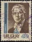 Stamps of the world : Uruguay :  Andrés Martinez Trueba. 1884 - 1959 Profesor, químico y político uruguayo. Presidente constitucional